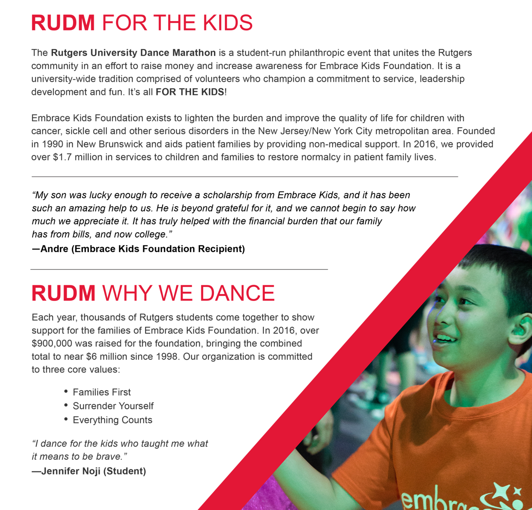 2017 Dance Marathon - Sponsor Package 1
